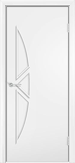 Ламинированная межкомнатная дверь Соната белый 3