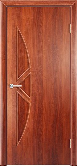 Ламинированная межкомнатная дверь Соната итальянский орех 2