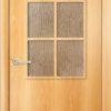 Ламинированная межкомнатная дверь Змейка миланский орех 2