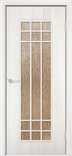Ламинированная межкомнатная дверь Стелла белёный дуб 3