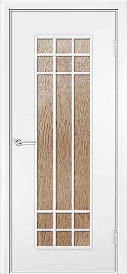 Ламинированная межкомнатная дверь Стелла белый 2