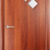Ламинированная межкомнатная дверь Змейка итальянский орех 2
