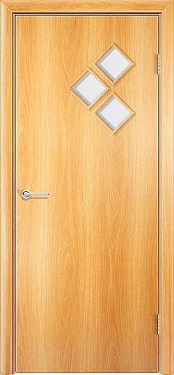 Ламинированная межкомнатная дверь Трио миланский орех 2