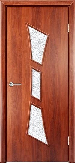 Ламинированная межкомнатная дверь Тростник итальянский орех 3