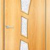 Ламинированная межкомнатная дверь Квадро венге премиум 1
