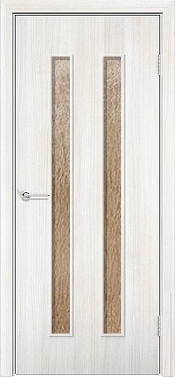 Ламинированная межкомнатная дверь Твист белёный дуб 3