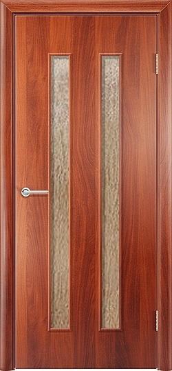 Ламинированная межкомнатная дверь Твист итальянский орех 2