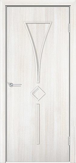 Ламинированная межкомнатная дверь Тюльпан белёный дуб 3