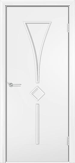 Ламинированная межкомнатная дверь Тюльпан белый 3
