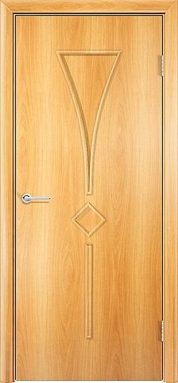 Ламинированная межкомнатная дверь Тюльпан миланский орех 3