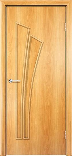Ламинированная межкомнатная дверь Ветка миланский орех 2
