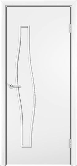 Ламинированная межкомнатная дверь Волна белый 3