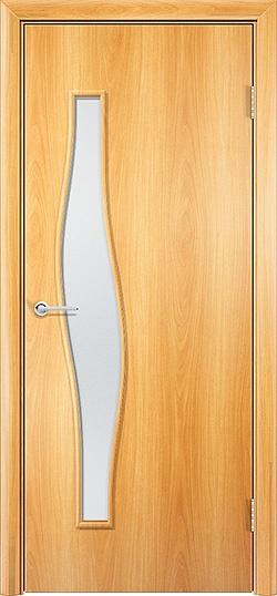 Ламинированная межкомнатная дверь Волна миланский орех 3