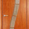 Ламинированная межкомнатная дверь Змейка итальянский орех 1