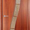 Ламинировананя межкомнатная дверь Змейка груша 2
