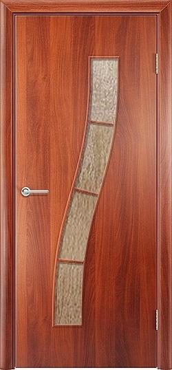 Ламинированная межкомнатная дверь Змейка итальянский орех 3