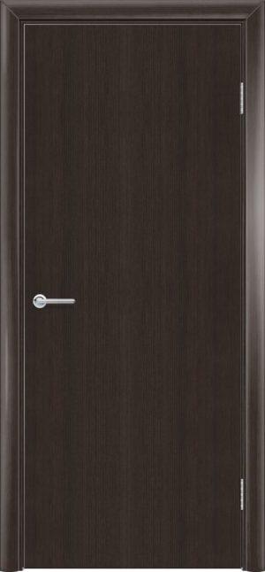 Межкомнатная дверь G гладкая орех темный рифленый 3
