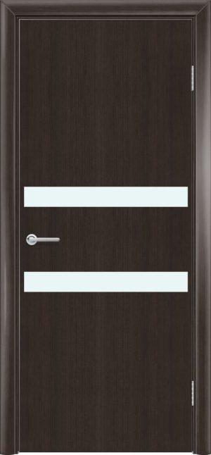 Межкомнатная дверь G 1 орех темный рифленый 3