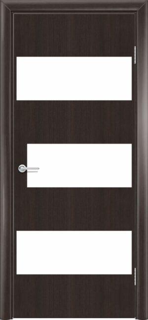 Межкомнатная дверь G 10 орех темный рифленый 3
