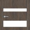 Межкомнатная дверь G 4 орех темный рифленый 2
