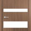 Межкомнатная дверь G 11 орех темный рифленый 1