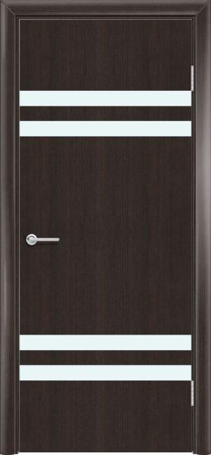 Межкомнатная дверь G 13 орех темный рифленый 3