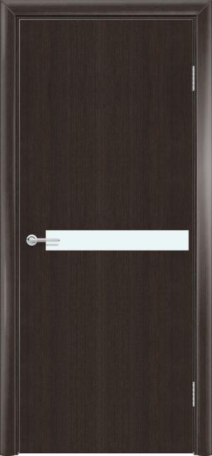 Межкомнатная дверь G 2 орех темный рифленый 3