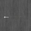 Межкомнатная дверь G 11 орех темный рифленый 2