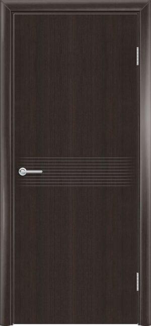 Межкомнатная дверь G 21 орех темный рифленый 1