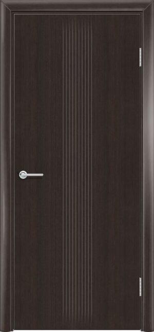 Межкомнатная дверь G 22 орех темный рифленый 3