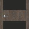 Межкомнатная дверь G 3 орех темный рифленый 1