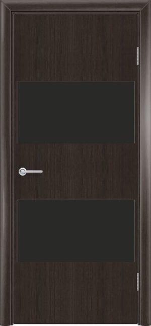 Межкомнатная дверь G 3 орех темный рифленый 3