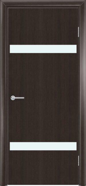 Межкомнатная дверь G 4 орех темный рифленый 3