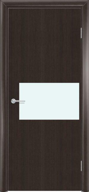 Межкомнатная дверь G 5 орех темный рифленый 3