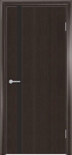 Межкомнатная дверь G 7 орех темный рифленый 3