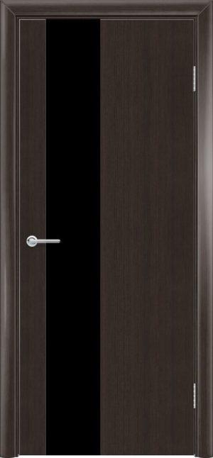 Межкомнатная дверь G 8 орех темный рифленый 3