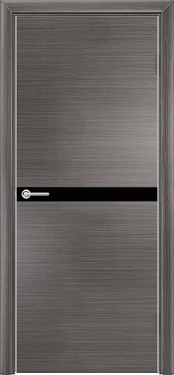 Межкомнатная дверь экошпон Q 2 серый 3