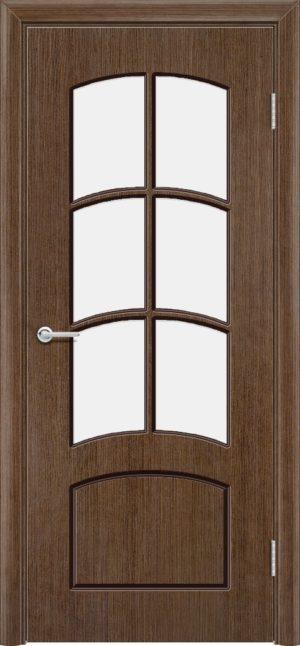 Межкомнатная дверь шпон Арка орех 3
