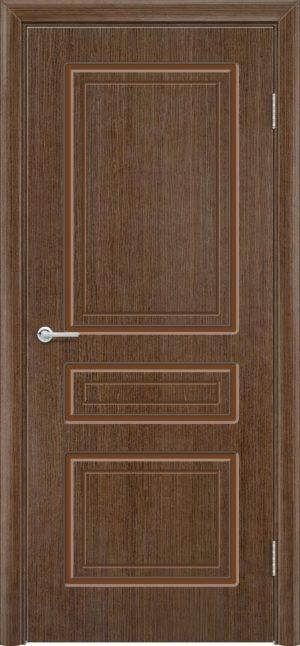 Межкомнатная дверь шпон Б 11 орех 3