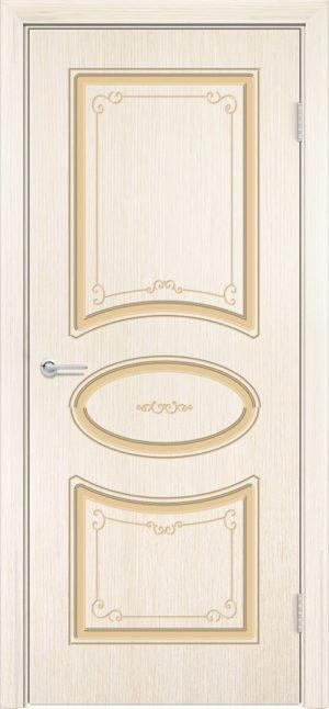 Межкомнатная дверь шпон Б 12 белёный дуб 3