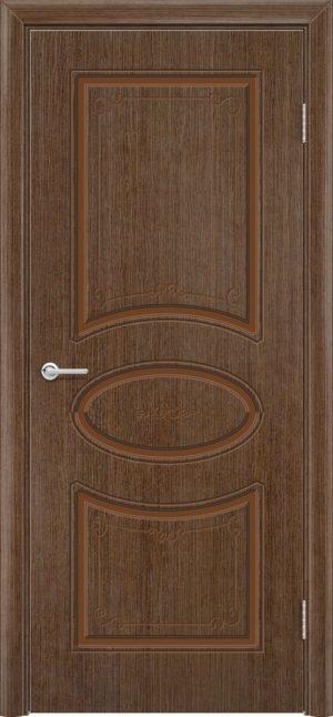 Межкомнатная дверь шпон Б 12 орех 1
