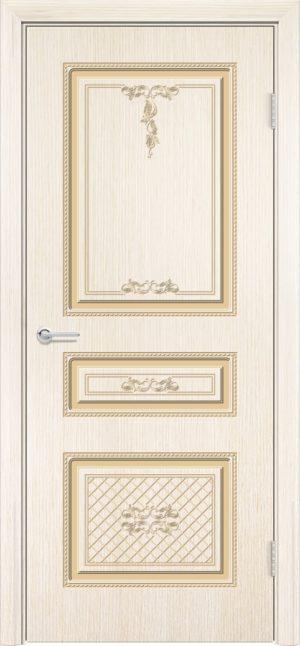 Межкомнатная дверь шпон Б 13 белёный дуб 3