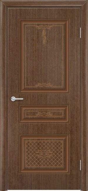 Межкомнатная дверь шпон Б 13 орех 1