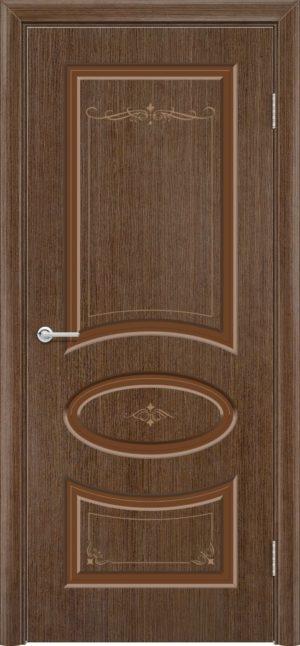 Межкомнатная дверь шпон Б 15 орех 1