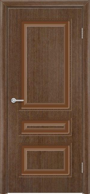 Межкомнатная дверь эмаль Б 2 орех 3