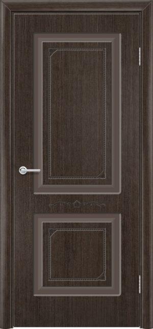 Межкомнатная дверь шпон Б 3 венге 3