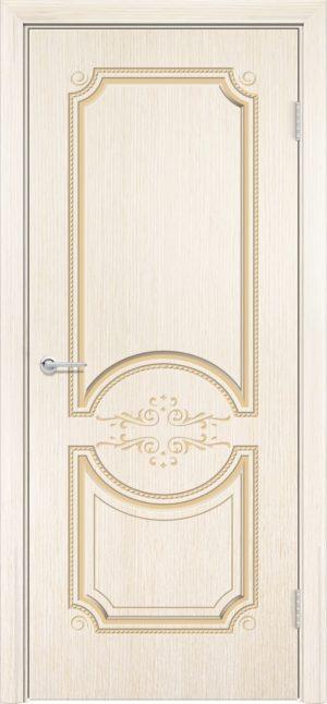 Межкомнатная дверь шпон Б 5 белёный дуб 3