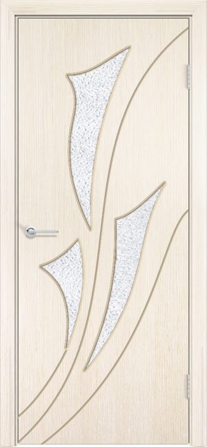 Межкомнатная дверь шпон Ирис белёный дуб 3