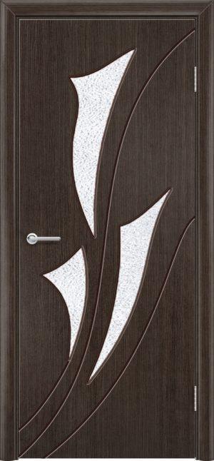 Межкомнатная дверь шпон Ирис венге 1
