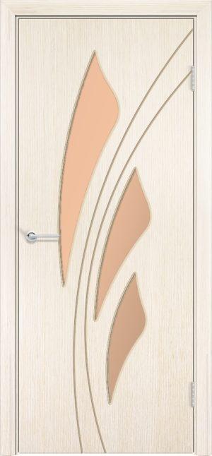 Межкомнатная дверь шпон Ландыш белёный дуб 1